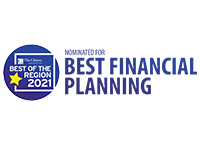 best of the region 2021 nominated for best financial planning logo